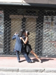 Tango dancers in the street- will dance for tips